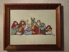 Nacimiento en Punto de Cruz. Por Marykar Sotomayor Holy Night, Needlepoint, Nativity, Cross Stitch, Counting, Frame, Creative, Christmas, How To Make