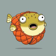 New work: Puffer fish