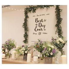 可愛い【メインテーブル】をつくるための定番アイテム特集* | marry[マリー] Space Wedding, Wedding Table, Diy Wedding, Wedding Flowers, Wedding Themes, Wedding Styles, Wedding Decorations, Flower Backdrop, Ceremony Backdrop