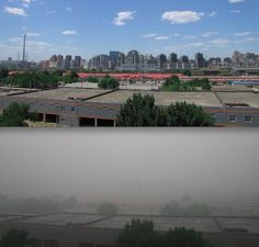 SCARY! Pollution in Beijing, China....
