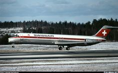 Swissair McDonnell Douglas DC-9-51 on the regular route Geneva GVA - Paris CDG in the 70's.