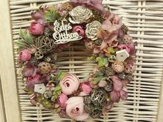 Topiary, Grapevine Wreath, Flower Decorations, Floral Wreath, Easter, Diy Crafts, Wreaths, Seasons, Spring