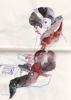 daily metro sketches/2014 by Sunga Park, via Behance