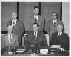 The HPSD Board of Trustees in 1954. Seated in the center is Mr. S.H. Blair, then HPSD Superintendent and namesake of the current Hattiesburg High School building.
