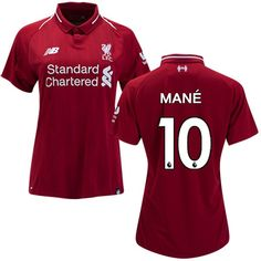 a79ac4401f2 Sadio Mane  10 Women s 2018 2019 Soccer Liverpool FC Home Jersey - red