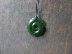 Pounamu, greenstone nephrite  jade maori koru pendant