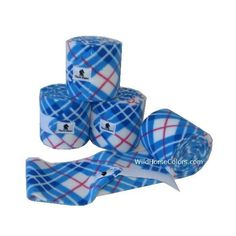 Blue Plaid Polo Wraps ($26) ❤ liked on Polyvore featuring blue and horse