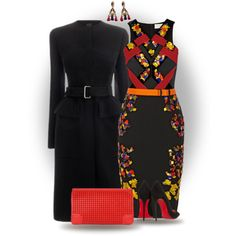 A fashion look from November 2014 featuring Peter Pilotto dresses, Christian Louboutin pumps and Christian Louboutin clutches. Browse and shop related looks.