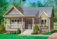 Lovely Two-Bedroom Home Plan