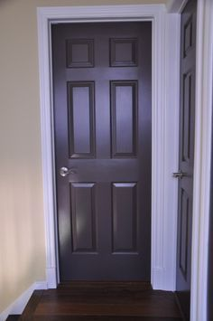 Espresso brown painted interior doors