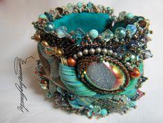 Sambro Reef Art Piece Cuff bracelet One of a Kind by Lynn Parpard