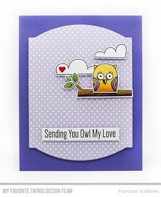 Stamps: Owl My Love Die-namics: Owl My Love, Elegant Rectangle STAX, Tag Builder Blueprints 6  Francine Vuillème   #mftstamps