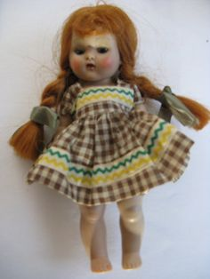Vogue Ginny Vintage Doll Red Hair. I have this exact doll and the same dress.