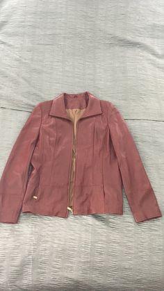 letgo - Burgundy  leather zip-up jacket in Glendale, CA