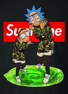 Supreme X Rick & Morty❤️ Elmo Wallpaper, Trippy Wallpaper, Boys Wallpaper, Cartoon Wallpaper, Iphone Wallpaper, Ocean Wallpaper, R Rick And Morty, Rick And Morty Quotes, Holly Pictures