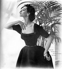 Barbara Mullen is wearing dress with square-cut neckline a… | Flickr
