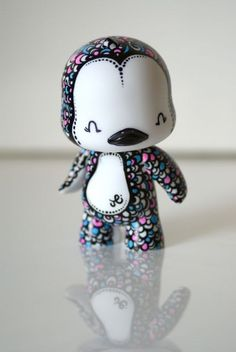 Hand Painted Vinyl Toy by The Graphix Chick by GraphixChick
