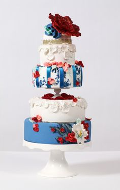 Again white, blue and red for a spectacular creation called Mademoiselle.