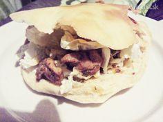 Domáci kebab v pita chlebe (fotorecept) - Recept Ale, Tacos, Ethnic Recipes, Food, Meal, Eten, Ales, Meals