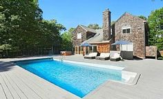 Sag Harbor / Bridgehampton - 8 Bedroom with Pool, Tennis, Basketball, etc. Vacation Rental in Sag Harbor from Harbor Village, Sag Harbor, Home And Away, Renting A House, Ideal Home, House Rentals, Beach House, Cabin, Bedroom