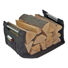 Holzkorb grau mit Echtholzgriffen #holzkorb #filzkorb #kaminholzkorb