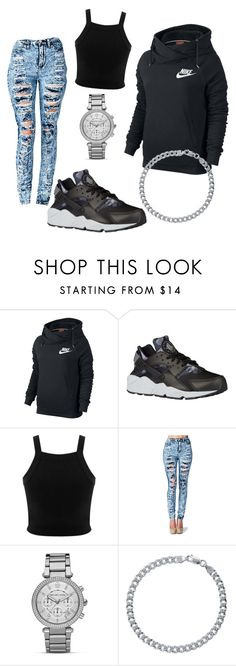 """""""Untitled #428"""" by jasiahhawkins ❤ liked on Polyvore featuring NIKE, Miss Selfridge, MICHAEL Michael Kors and BERRICLE"""