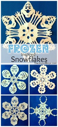 These Frozen Snowflakes inspired by Disney's Frozen are an amazing addition to any Christmas decor. Kids and adults will love these Snowflakes.