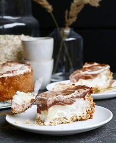 Appel kaneel yoghurttaart - Beaufood Healthy Sugar, Healthy Cake, Sweet Recipes, Cake Recipes, Yogurt Pie, Yummy Treats, Yummy Food, Feel Good Food, No Bake Pies