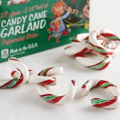 Linky Doodles Candy Cane Garland 14.1 oz