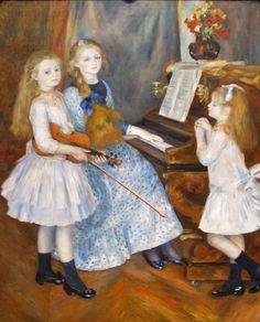 renoir piano lesson | Pierre Auguste Renoir (1841 – 1919, French)
