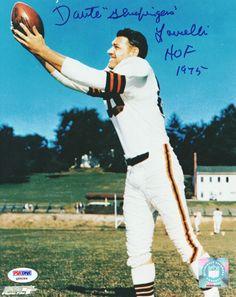 Dante Lavelli Autographed 8x10 Photo Browns HOF 1975 PSA/DNA #Q96284