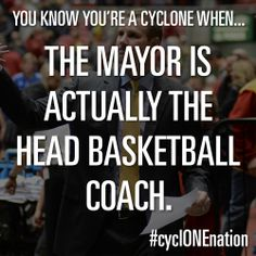 True statement if you're a Cyclone.