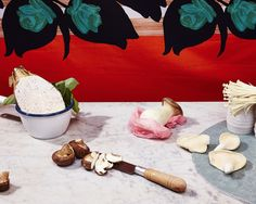 the painting behind the food. james-tolich-faux-food-01