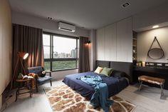 Escritório House Design foi encarregado de dar vida aos 122 m² de um apartamento na cidade de Kaohsiung.