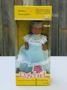 Vintage 1976 Mattel ROSEBUD DOLL ~ #2349 African American ~ MINT NRFB #Mattel #Dolls #Rosebud #AfricanAmerican