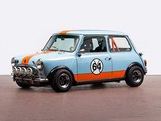 "Austin mini Cooper S ""Gulf"" Classic Mini, Mini Cooper Classic, Mini Cooper S, Classic Cars, Mini Clubman, Mini Countryman, Rat Rods, Fiat 500, Vw Logo"