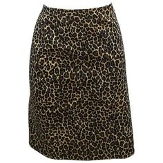 Preowned Vintage Moschino Cheetah Skirt (3.392.280 IDR) ❤ liked on Polyvore featuring skirts, black, moschino, cheetah skirt, moschino skirt, cheetah print skirt and vintage skirts
