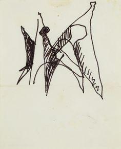 "Alexander Calder, 'Sketch of ""Man"" Stabile,' 1966, Heather James Fine Art"