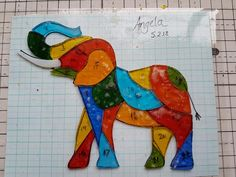 Stained Glass Suncatchers, Stained Glass Projects, Stained Glass Patterns, Mosaic Patterns, Stained Glass Art, Stained Glass Windows, Mosaic Glass, Quilt Patterns, Elephant Quilt