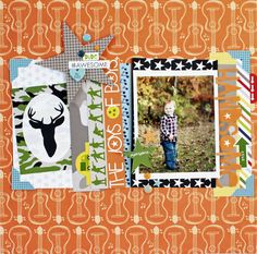 Handsome - Scrapbook.com  This boy layout was made with products from Bella Blvd's Max Collection.