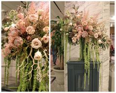 Sweet Pea Floral Design and Passionflower Events designing together at the DIA (Detroit Institute of Arts) Detroit Art museum floral design xl arrangements
