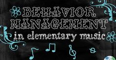 Organized Chaos: Teacher Tuesday: behavior management. HUGE post with tons of thoughts and strategies for effective classroom management and behavior management in the elementary music classroom.