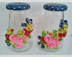 Conjunto de Pote Pequenos - Flores