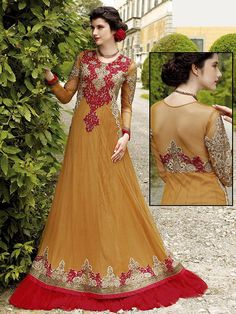 #Gown will bring a new sprit of luxury and glamour for you.  Item Code: GKDE3502 http://www.bharatplaza.com/new-arrivals/gowns.html