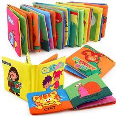 Soft Cloth Book Learn Cognize Book Kids Intelligence Development Accessory LA
