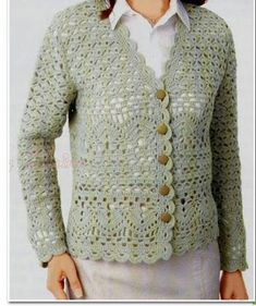 crochet cardigan (Crochet Knitting Handicraft)