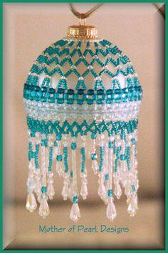 Beaded Sparkling Ruffles Ornament Cover Pattern | BeadedBundles ...