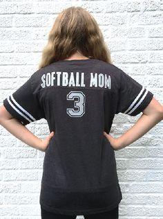 SOFTBALL MOM Spirit t shirt