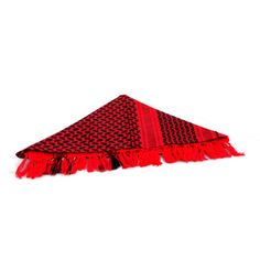 SGD 12 110*110cm Arabian Shemagh Tactical Desert Head Scarf Fringed 100% Cotton Red Costume Accessories, Headdress, Shawl, Deserts, Unisex, Red, Cotton, Fashion, Moda