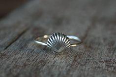 Seashell Sea Shell Ring  Sterling silver  Sea by ArmoredJewelry, $30.00